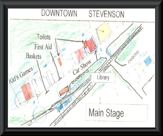 "Map for ""HISTORIC DOWNTOWN STEVENSON, AL"